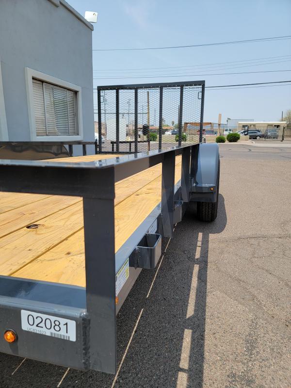 2021 Lamar Trailers UC-3.5k-14 Utility Trailer- Channel Frame-rail top- 7000# GVWR- 4' spring assist gate-cash discount ** See Below**
