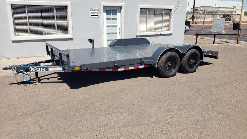 2020 X-on Trailer 16' Steel Deck Car / Open Car Trailers-steel deck-free spare tire- cash discounts* see below *