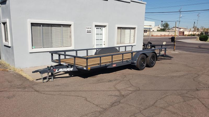 2021 Lamar Trailers UT-3.5k-18 Utility Trailer- 7000# GVWR- 4' spring assist gate-  cash discount ** See Below**