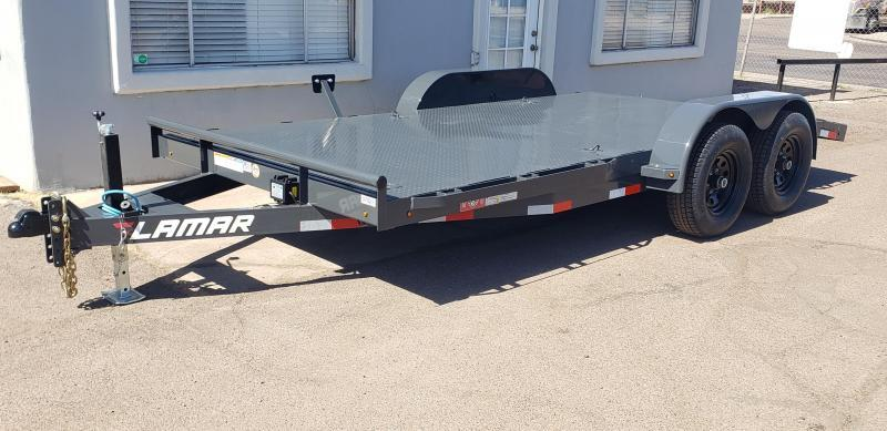 2021 Lamar Trailers CC-5.2k-16' Car / Open Car Trailers-Steel deck- D-rings-**cash discounts available** see below