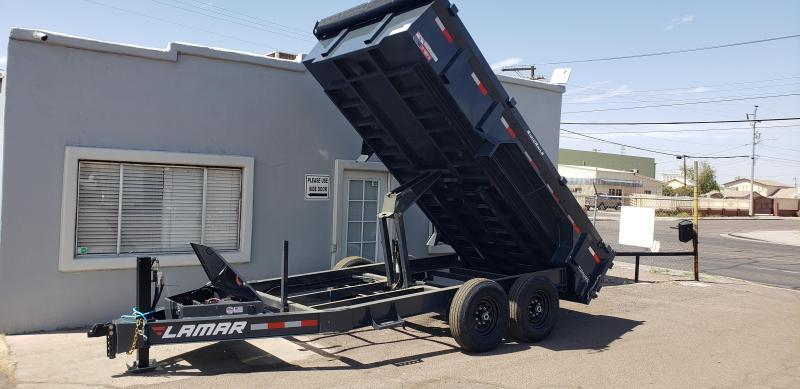 2021 Lamar Trailers DL-7k-14 Dump Trailer-bumper pull- hydraulic jack-Tarp- Ramps - Battery Charger- 7 Gauge Floor - Powder coat finish. *** Cash discounts Available- see below***