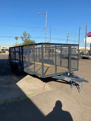 2021 X-ON Landscape Trailer 7000 GVWR 4 spring assist gate -4' mesh sides -cash discount See Below