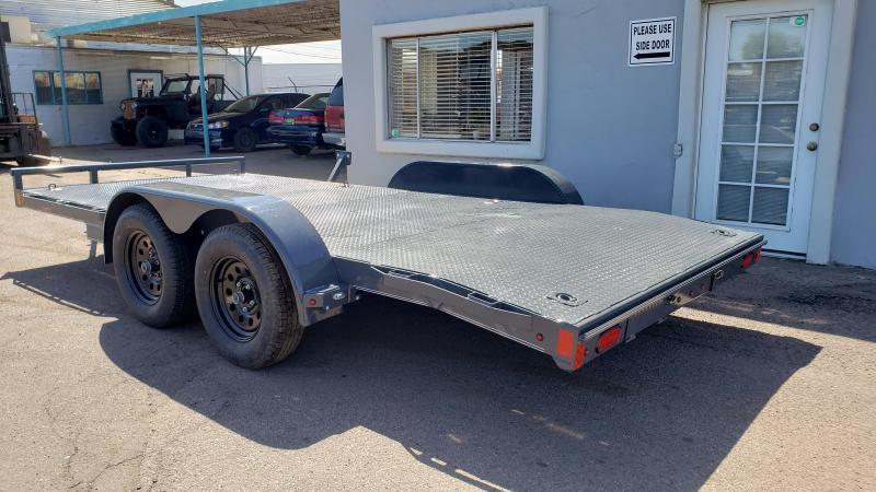 2021 Lamar CE-3.5k-16 Car steel deck  / Open Car Trailers-Steel deck- 7000# GVWR- D-rings-