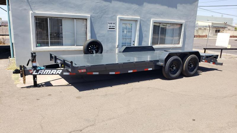 "2021 H6 20' Equipment hauler - Steel deck- 6"" channel Frame-Spare tire- flush mount d-rings- Rhino ramps"