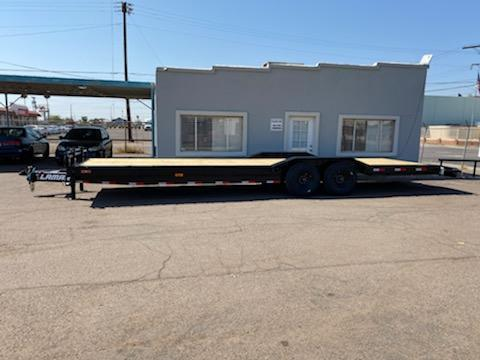 "2021 Lamar Trailers H6-7K-30-   30' heavy duty equipment trailer- 16000# GVWR-8k axles- 102"" wide drive over fenders-8"" I Beam frame **Cash discounts- see below**"