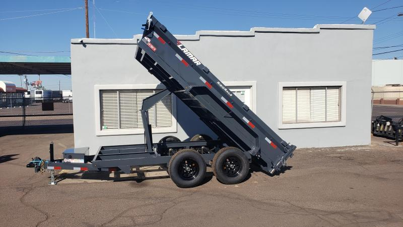 **ON SALE NOW** Lamar Medium Dump Trailer- 6.5 x 12- 9990# GVWR- Ramps- Deluxe Tarp Kit- Adj Coupler-Spreader Gate- Cash Discounts (See Below)