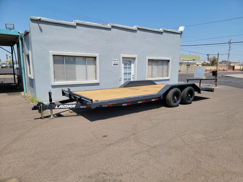 2021 Lamar Trailers CCW-5.2k-20' Car / Open Car Trailers-Wood deck- Drive Over Fenders- D-rings-**cash discounts available** see below