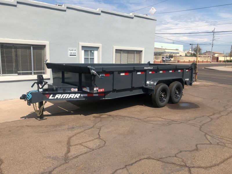 2021 Lamar Trailers DL-7k-16 Dump Trailer-14000# GVWR - spreader gate- scissor lift- tarp- ramps-  ***cash discounts.   See Below