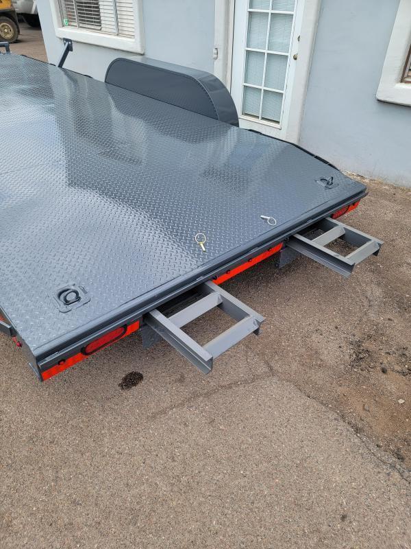 2021 Lamar Trailers CC-5.2k-18' Car / Open Car Trailers-Steel deck- D-rings-ramps- **cash discounts available** see below