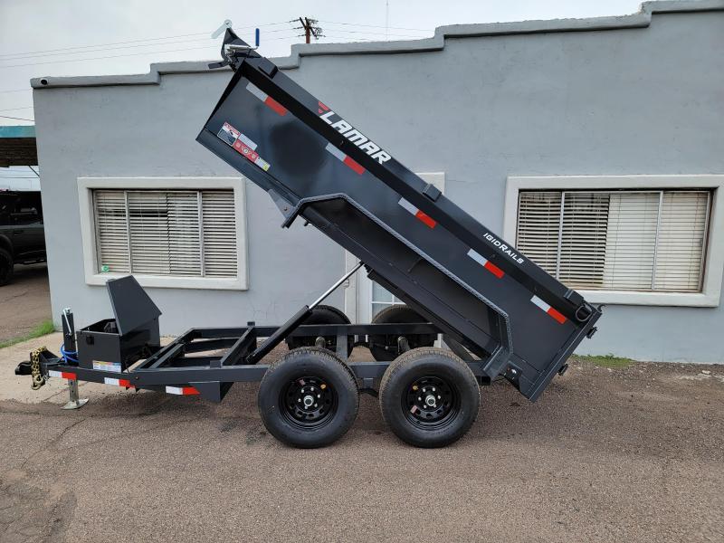 "2021 Lamar Dump Trailer-Mini Dump for sale- #9990 GVWR- 24"" walls-Tarp-Ramps -battery charger -powder coat finish*** Cash Discounts - SEE BELOW***"