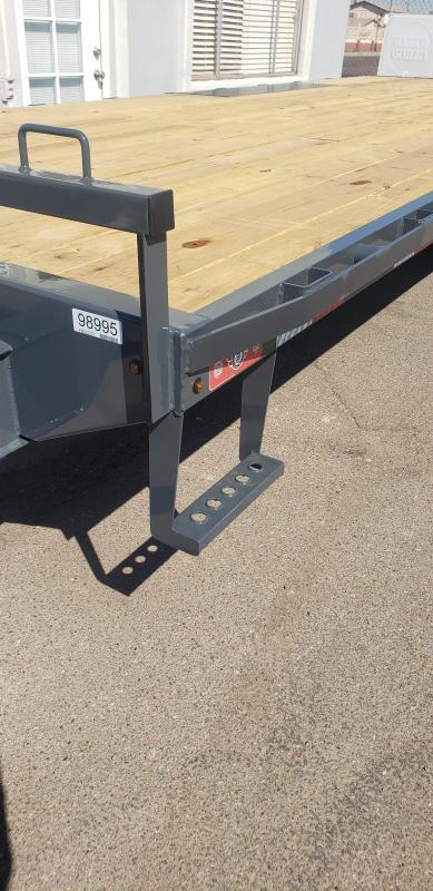 """2021 Lamar Trailers F8-7k-22 Deck Over Flatbed Trailer-14,000# GVWR -  Pull out Ramps - 8"""" I beam Frame - ***cash discounts available- see below ***"""