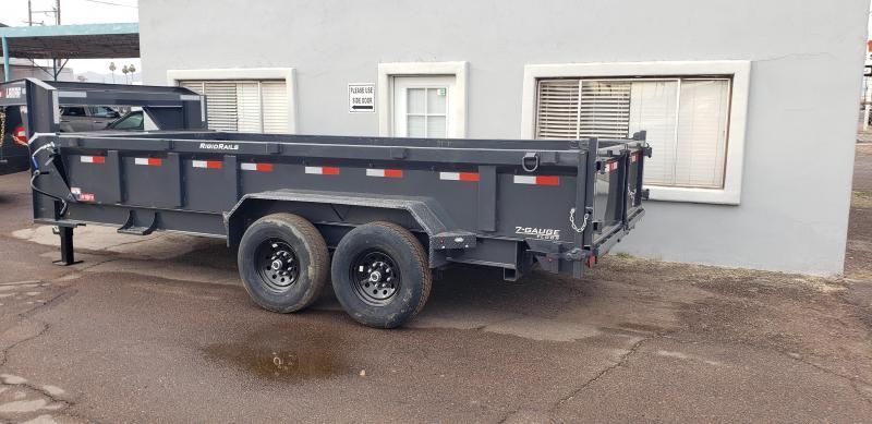 2021 Lamar Trailer  16' Long -  14K # GVWR- Gooseneck Dump Trailer- Tarp- Ramps - Battery Charger- 7 Gauge Floor - Powder coat finish.