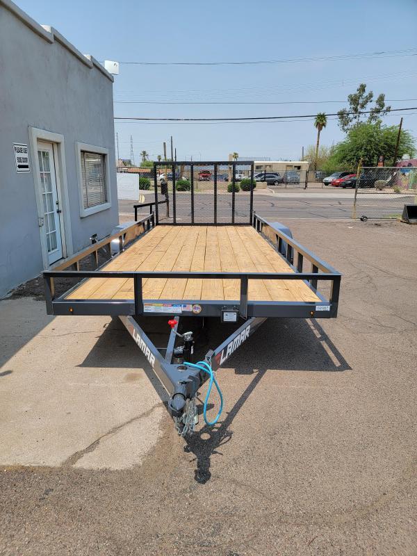 2021 Lamar Trailers UC-3.5k-18 Utility Trailer- Channel Frame-rail top- 7000# GVWR- 4' spring assist gate-cash discount ** See Below**