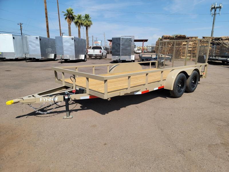 2021 Fynn 16 ft Utility Trailer - 4  ft spring assisted gate - **Cash discounts available- see below***