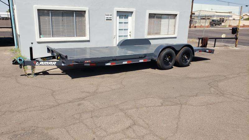 2021 Lamar Trailers CC-5.2k-20' Car / Open Car Trailers-Steel deck- D-rings-**cash discounts available** see below