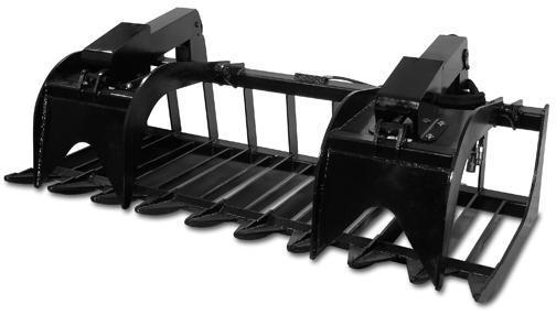 Skid Steer Attachments - Construction Implements Depot  Heavy Duty Root Grapple 72inch