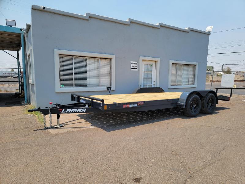 2021 Lamar CEw-3.5k-18 Car Wood deck  / Open Car Trailers- 7000# GVWR- D-rings- ramps**Cash Discounts available- See below***