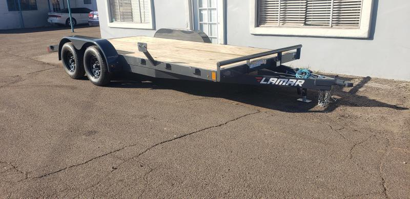 2021 Lamar  CEW-3.5k-16 ft Car / Open Car Trailers- Wood Deck- 5' pull out ramps- LED Lights- Sealed Wiring Harness- Removable Fenders- Powder Coated-Cash Discounts- see below
