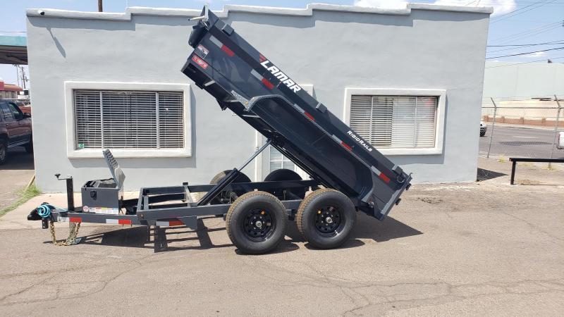 Lamar Mini Dump Trailer 5x10 9990 GVWR Ramps Deluxe Tarp Kit Adj Coupler