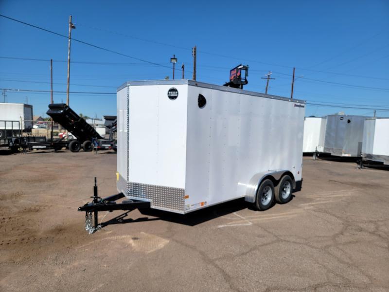 2022 Wells Cargo FT612T2-D Enclosed Cargo Trailer-Tandem Axle- Rear barn doors- Side door