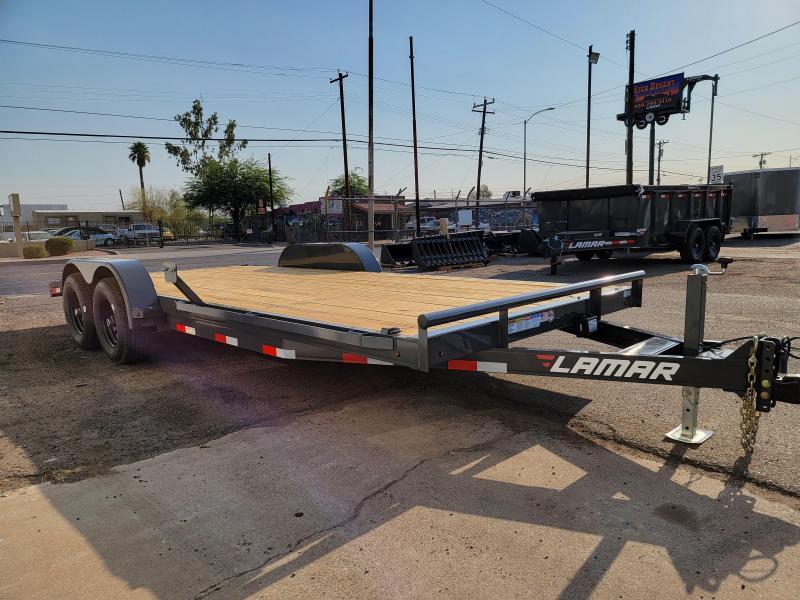 2021 Lamar Trailers ccw-5.2k-20 Car / Open Car Trailers-9990# GVWR-7k drop foot jack- Ramps-Powder Coat Finish *** Cash discounts available***