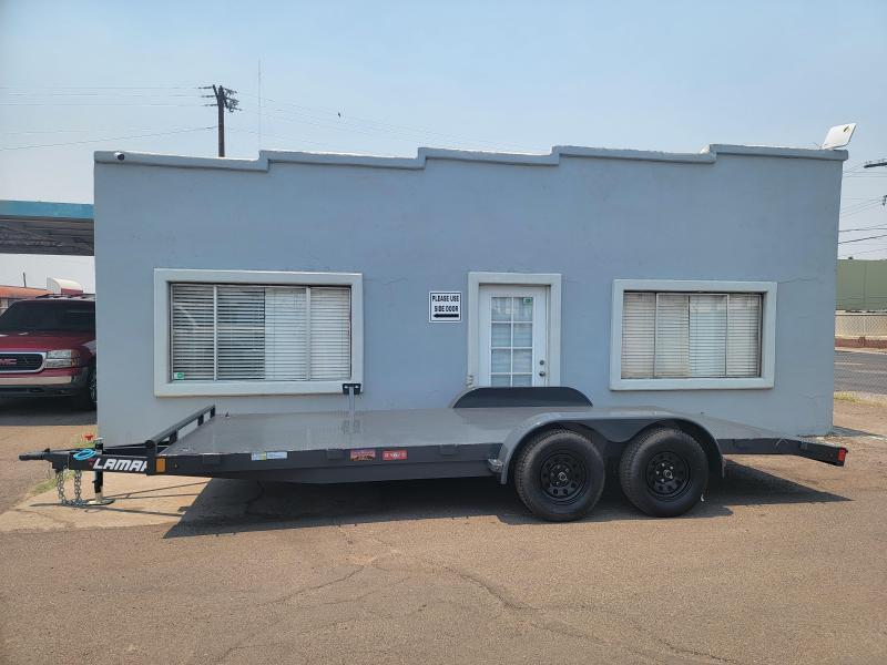 2021 Lamar CE-3.5k-18 Car steel deck  / Open Car Trailers-Steel deck- 7000# GVWR- D-rings - ramps**Cash Discounts available- See below***