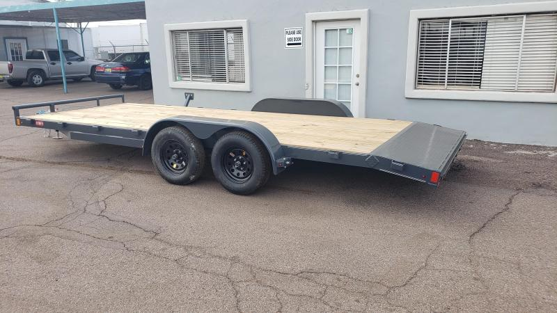 2021 Lamar  CEW-3.5k-20 ft Car / Open Car Trailers- Wood Deck- Cash Discounts- LED Lights- Sealed Wiring Harness- Removable Fenders- Powder Coated