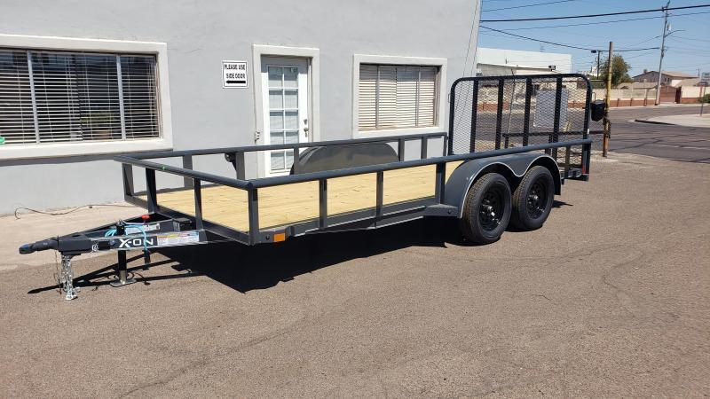 2021 X-on 16' Utility Trailer- 7000# GVWR- 4' spring assist gate