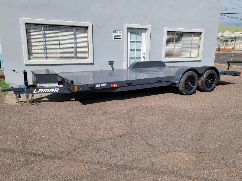 2021 Lamar Trailers CE-3.5k-20 Steel Deck Car / Open Car Trailer for sale-steel deck-  7000# GVWR-4 D-rings- tool box- 7k jack- 2' dove tail- Spare mount ***Cash discounts- see below)