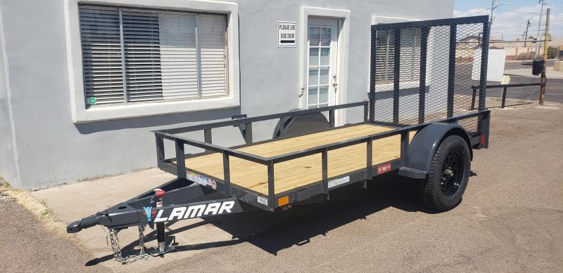 2021 Lamar Trailers UT-3.5k-10 Utility Trailer- 2990# GVWR- 4' spring assist gate- cash discount ** See Below**
