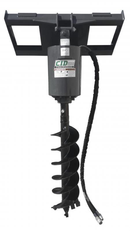 Skid Steer Attachments - Construction Implements Depot Heavy Duty 12 inch x 4 ft Auger BIT ONLY