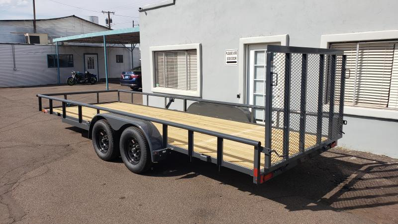 2021 Lamar  20' Utility Trailer - #7000 GVWR- Pipe top- 4' Spring assist full gate