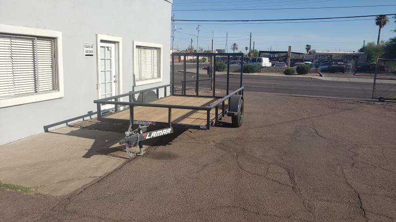2021 Lamar 12' Utility Trailer- 2990# GVWR- 4' spring assist gate- pipe top - cash discount ** See Below**