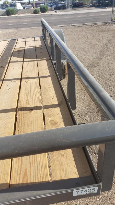 2021 Lamar 12' Utility Trailer- 2990# GVWR- 4' spring assist gate- pipe top - cash discount ** See Below**