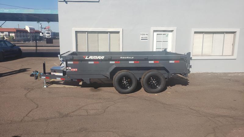 2021 Lamar Dump Trailer-Medium duty dumper- #9990 GVWR- Tarp-Ramps -battery charger -spreader gate*** Cash Discounts - SEE BELOW***