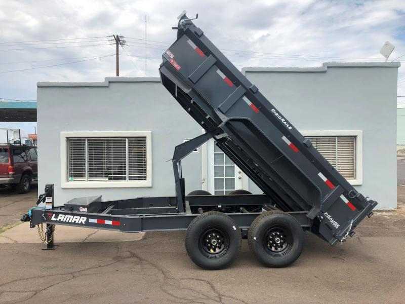2021 Lamar Trailers DL-7k-12 Dump Trailer -14000# GVWR- Tarp Included- Ramps included- Spare tire included-  **Cash Discounts available** See below