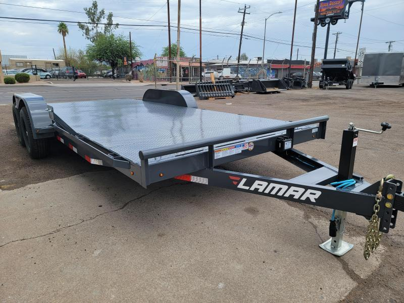 2021 Lamar Trailers CC-5.2k-18' Car / Open Car Trailer for sale-Steel deck- D-rings-ramps- **cash discounts available** see below