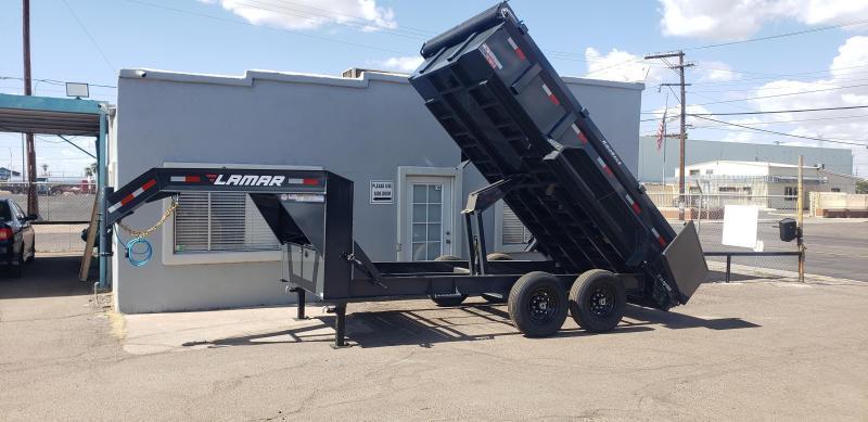 2021 Lamar Trailers DL-7k-14 Dump Trailer- Gooseneck-Tarp- Ramps - Battery Charger- 7 Gauge Floor - Powder coat finish. *** Cash discounts Available- see below***
