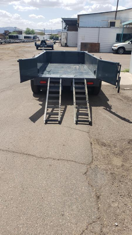 Lamar Mini Dump Trailer 5x10 10k GVWR Ramps Deluxe Tarp Kit Adj Coupler