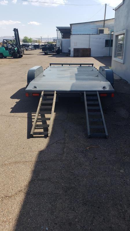 2021 Lamar Trailer 18' Steel Deck Car / Racing Trailer- 7000# GVWR- Pull out ramps- *cash discounts- see below**
