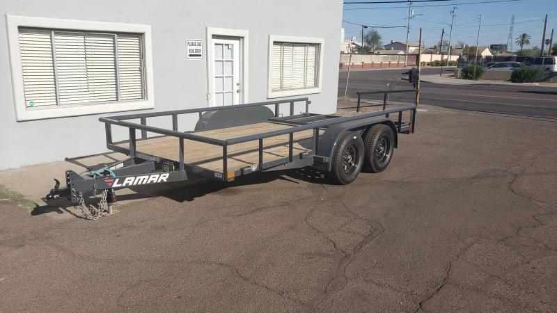 2021 Lamar Utility Trailer - #7000 GVWR- Pipe top- 4' Spring assist full gate