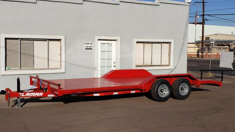 2021 Lamar 20' Open Car hauler 9990# GVWR- Steel deck- 8 flush mount D-rings-  2' dove tail- slide in rear ramps-Drive over fenders **cash discounts** See below