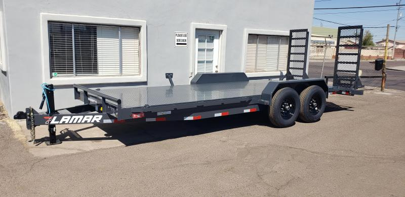 "2021 H6 20' Equipment hauler -14000# GVWR- Steel deck- 6"" channel Frame-Stand Up ramps- 2' dove tail- ***cash discounts available- See Below***"