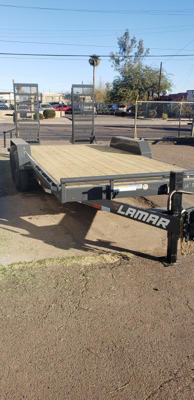 """2021 H6 18' Equipment hauler -14000# GVWR- wood deck- 6"""" channel Frame-Stand Up ramps- 2' dove tail-"""