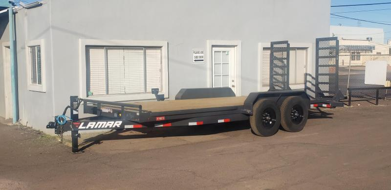 "2021 H6 18' Equipment hauler -14000# GVWR- wood deck- 6"" channel Frame-Stand Up ramps- 2' dove tail-"