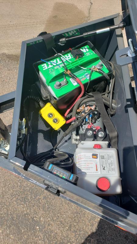 2021 Lamar Dump Trailer-Mini Dump- #9990 GVWR- Tarp-Ramps -battery charger -powder coat finish*** Cash Discounts - SEE BELOW***
