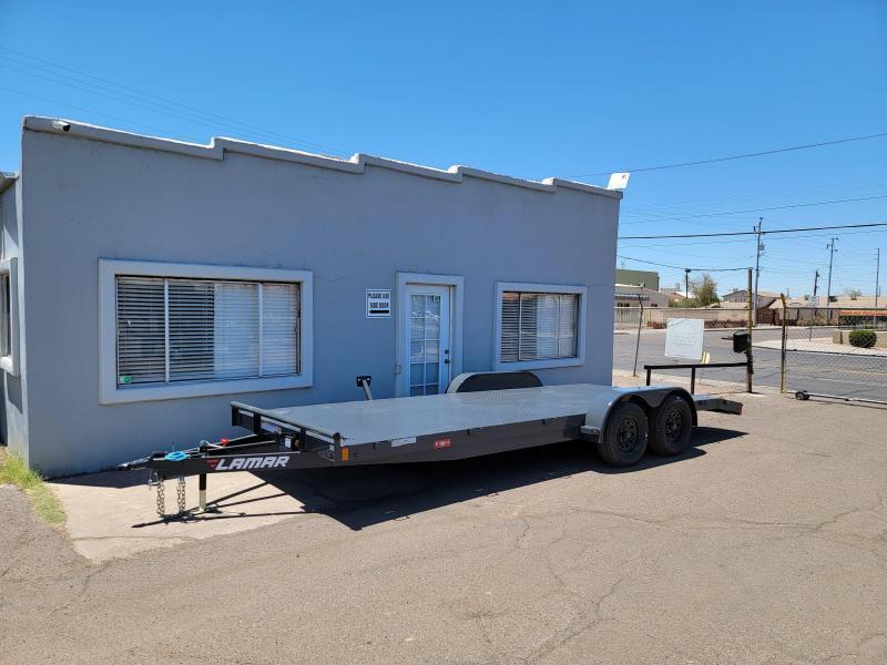 2021 Lamar Trailers CE-3.5k-20 Steel Deck Car / Open Car Trailers-  7000# GVWR-4 D-rings- Spare mount ***Cash discounts- see below)