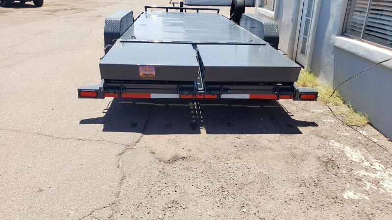 "2021 H6 20' Equipment hauler -14000# GVWR- Steel deck- 6"" channel Frame-Full Width Rhino Ramps- 4' dove tail-"