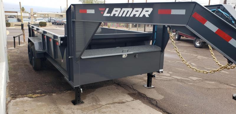 2021 Lamar Trailers DL-7k-16 Dump Trailer-Gooseneck- 2' sides- Tarp- Ramps - Battery Charger- 7 Gauge Floor - Powder coat finish.***Cash Discounts- see below***
