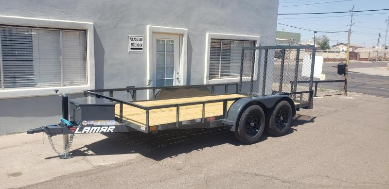 2021 Lamar TrailerUT-3.5k-14 Utility Trailer-7000# GVWR-Tool Box -4' Stand up spring assist gate-cash discount see below